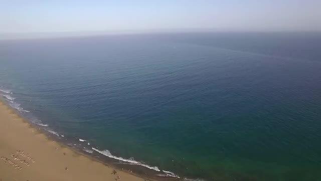 Flying Over A Desert Island: Stock Video