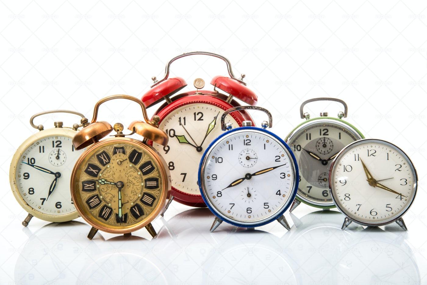 Vintage Alarm Clock: Stock Photos