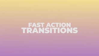 Fast Action Transitions: Premiere Pro Templates