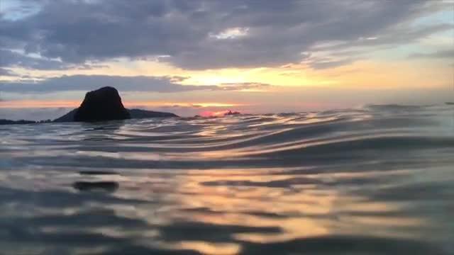 Cinematic Shot Of Calm Ocean: Stock Video