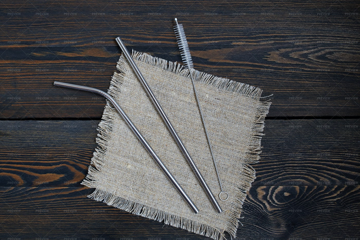 Eco-Friendly Stainless Steel Straws: Stock Photos