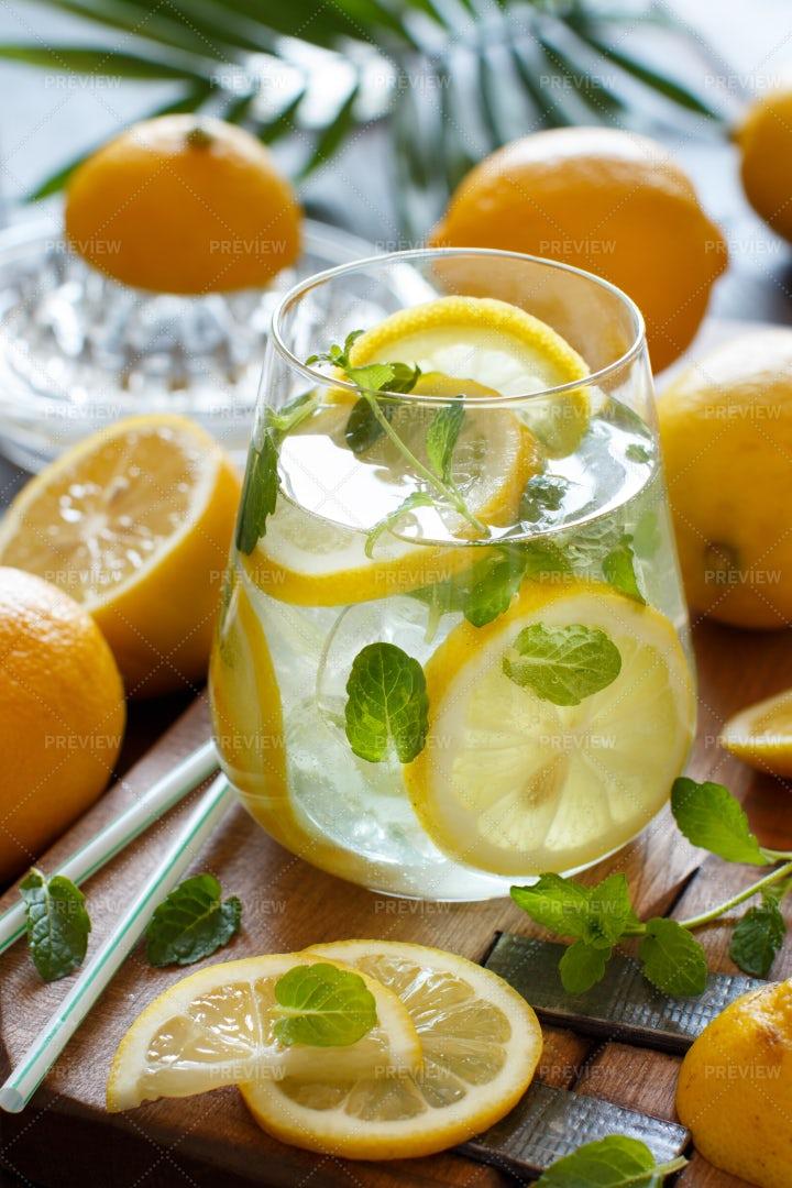 Lemon And Mint Drink: Stock Photos