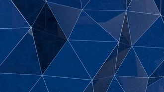 Blue Glass Polygonal Background: Motion Graphics