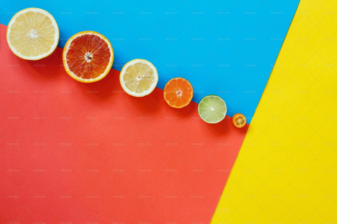 Sliced Citrus Fruits: Stock Photos