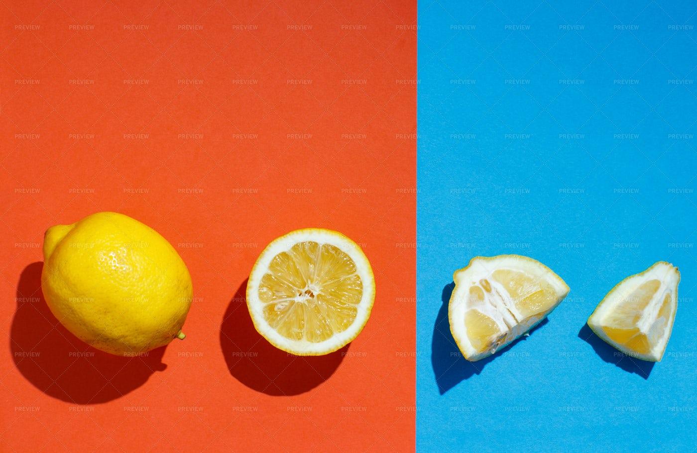 Sliced Lemons Background: Stock Photos