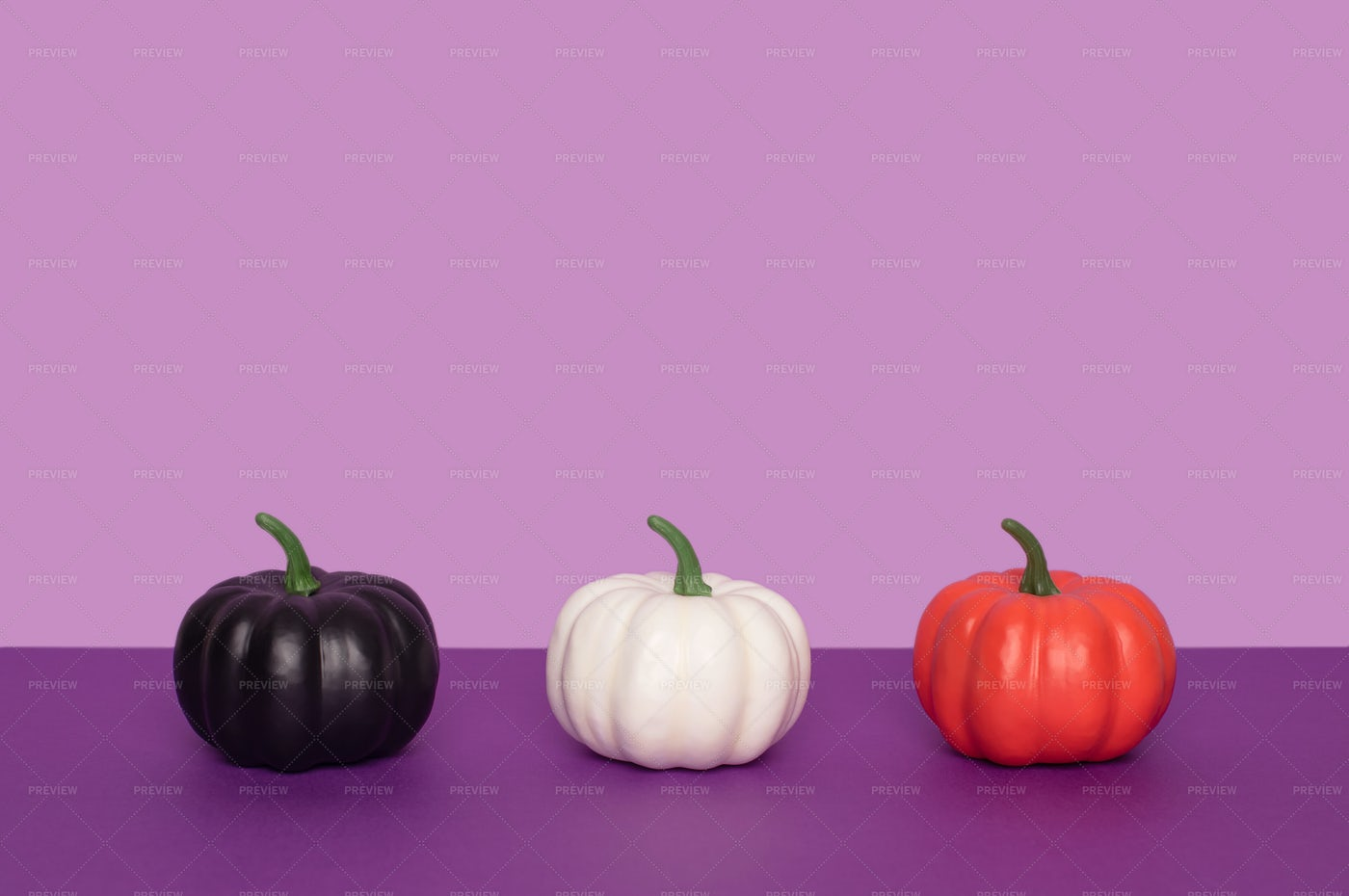 Painted Decorative Pumpkins: Stock Photos