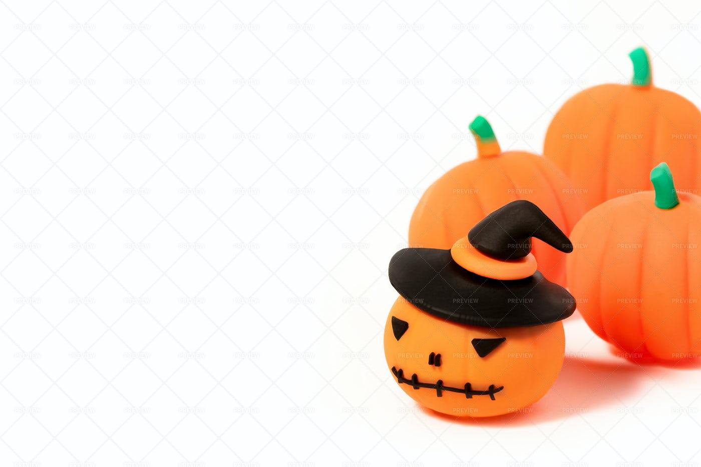 Halloween Toy Pumpkins: Stock Photos
