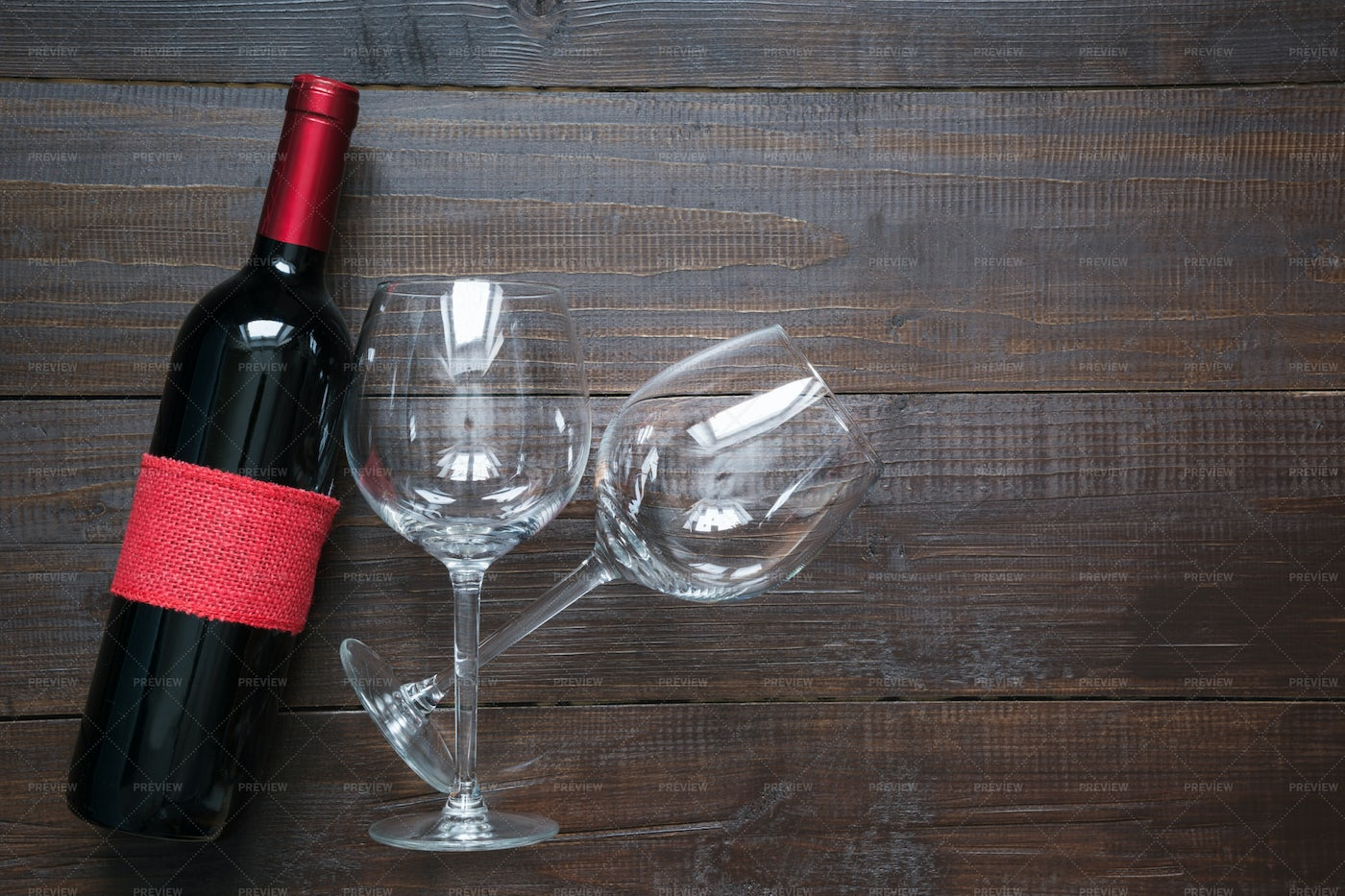 Wine With Glasses: Stock Photos