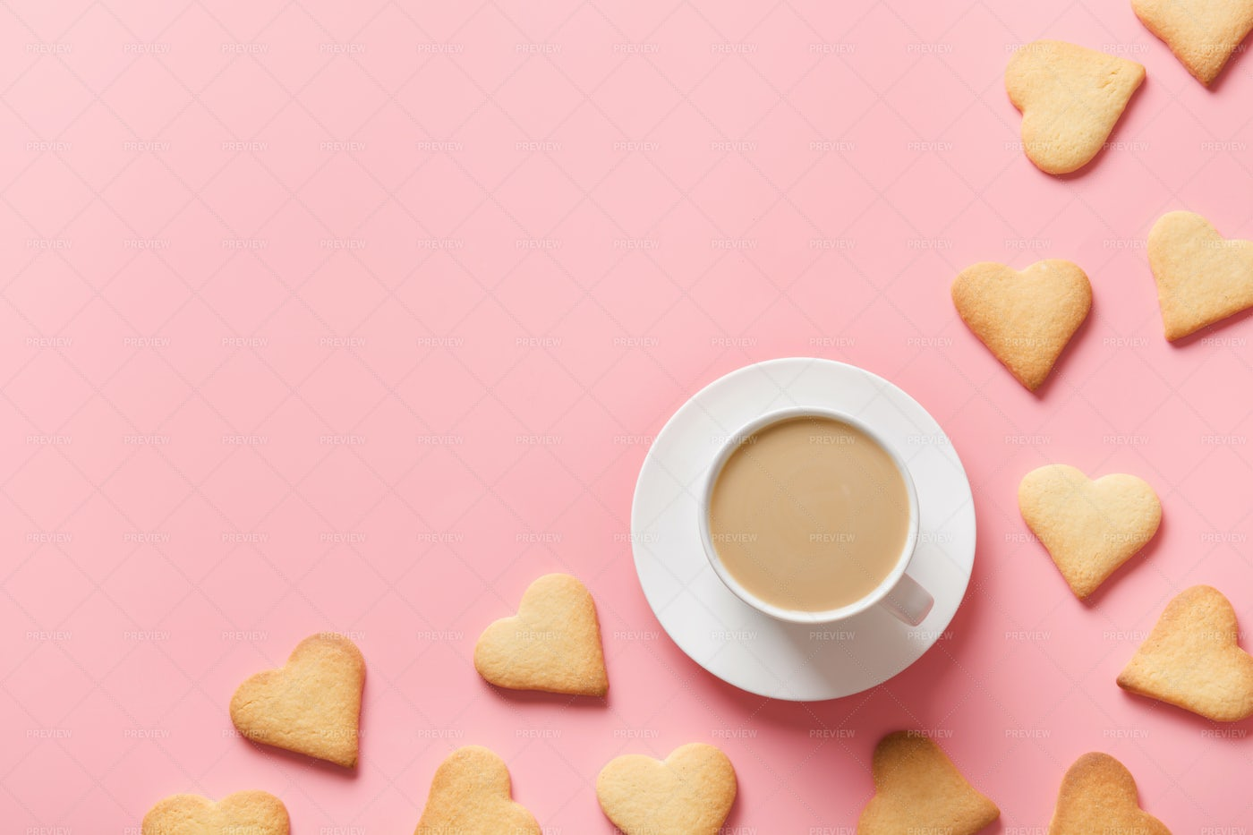 Cup Of Coffee And Cookies: Stock Photos