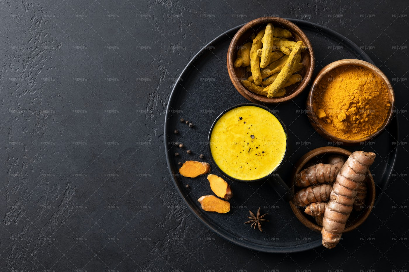 Cup Of Turmeric Milk: Stock Photos