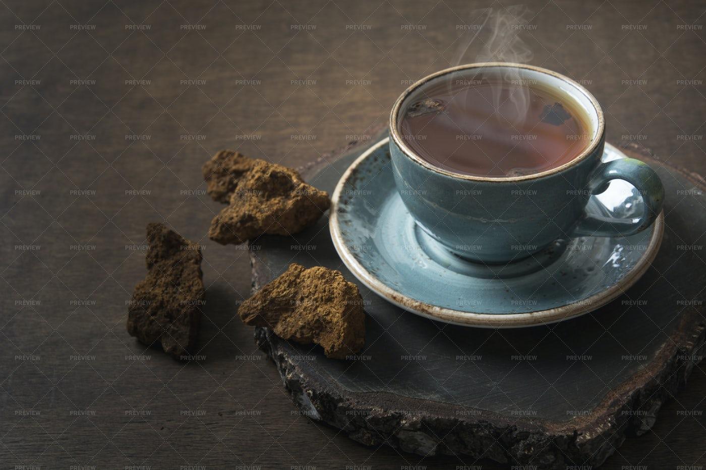 Chaga Mushroom Coffee: Stock Photos