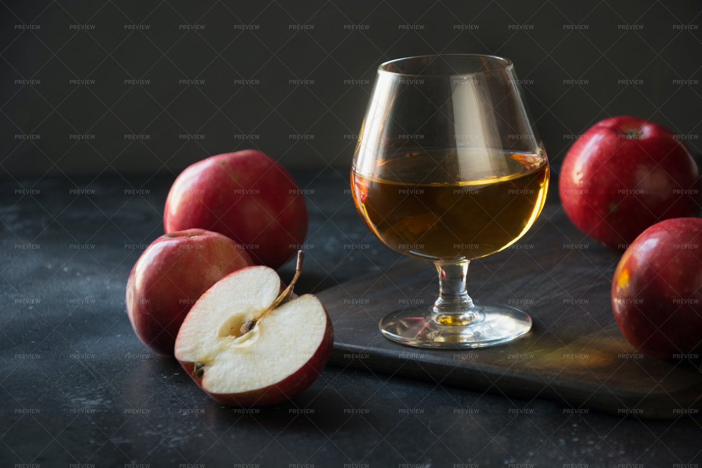 Brandy And Apples: Stock Photos