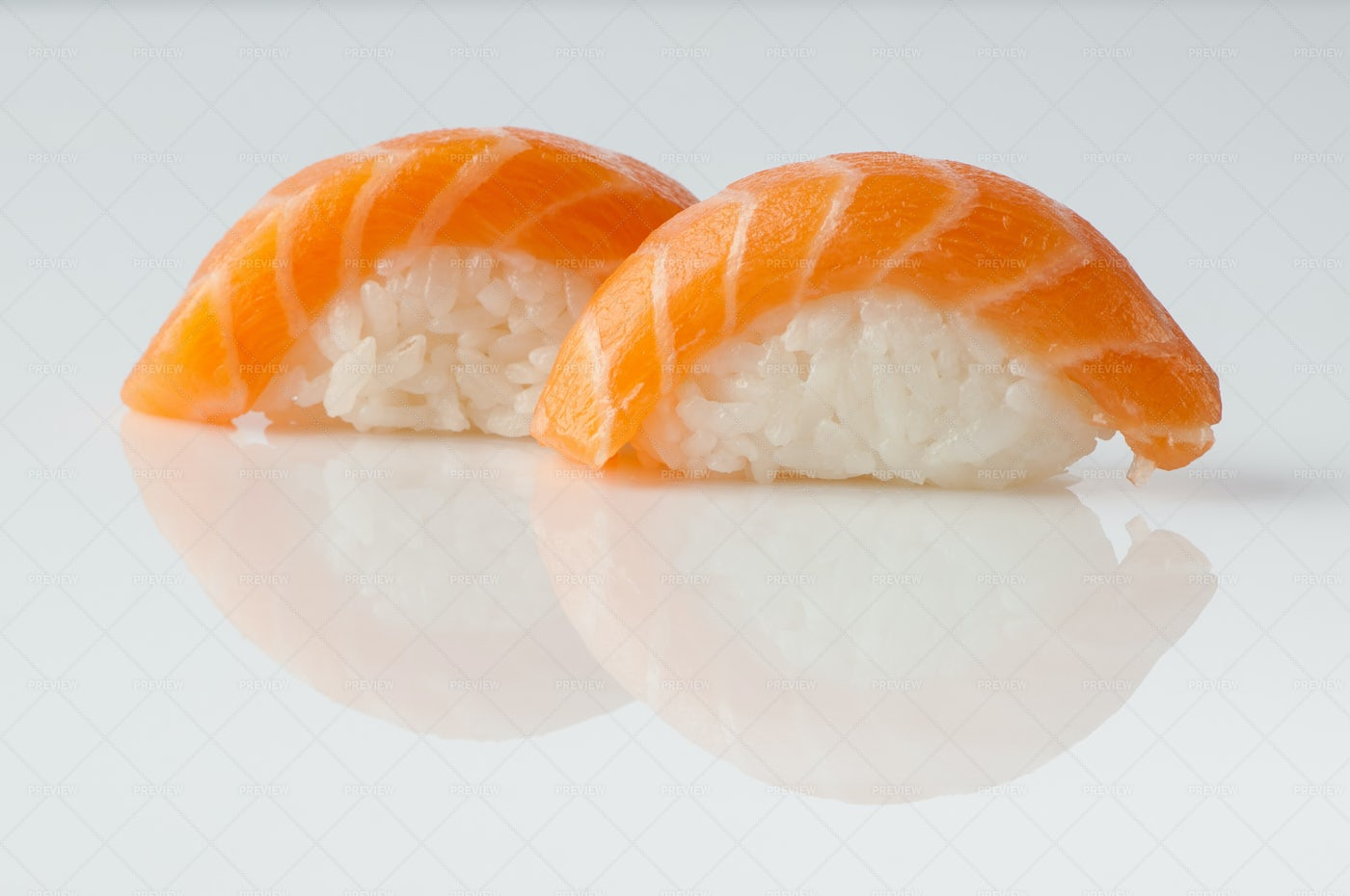 Sushi On White: Stock Photos