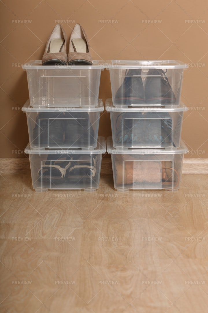 Shoes In Boxes: Stock Photos
