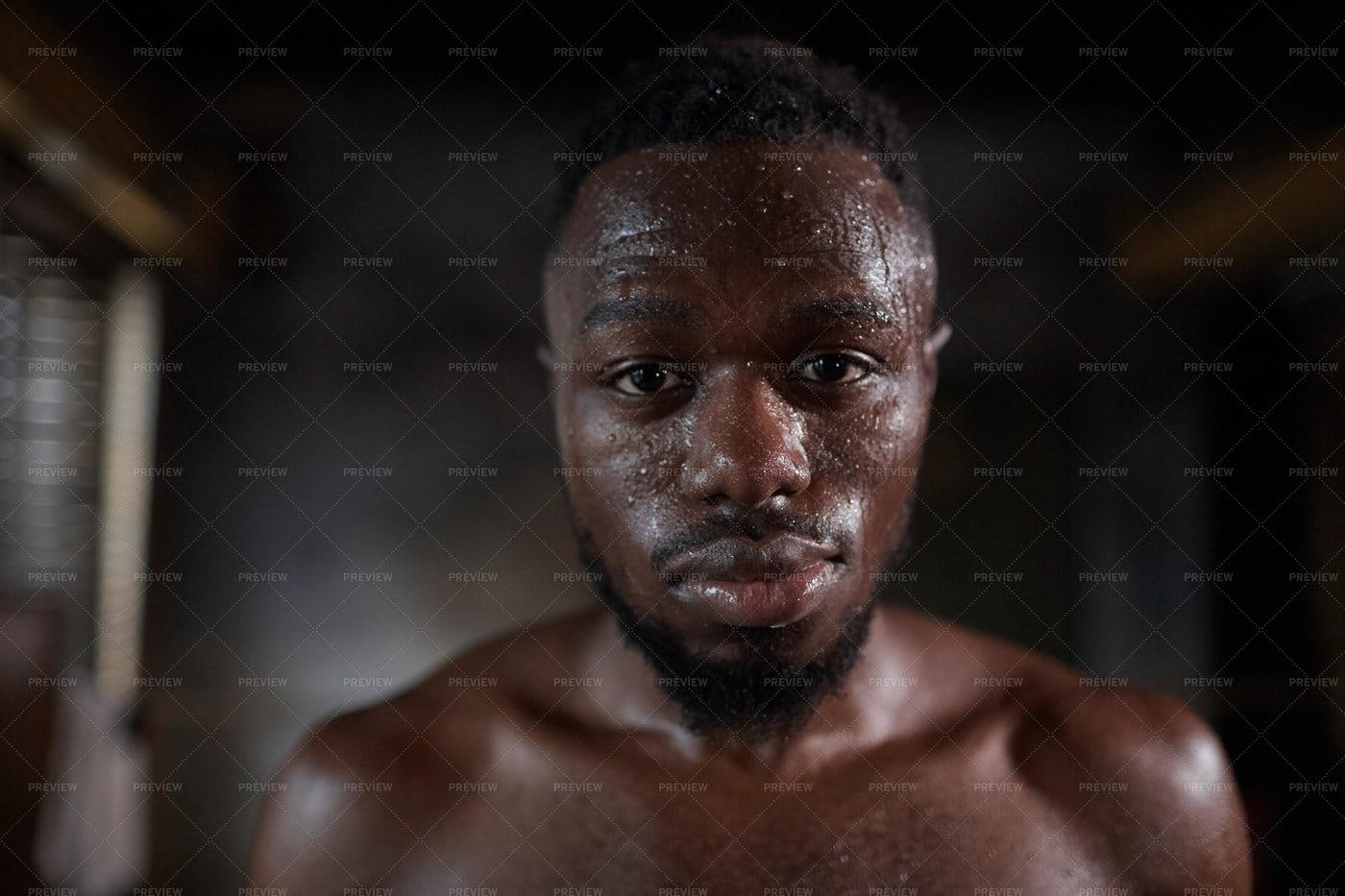 Confident Male Athlete Portrait: Stock Photos