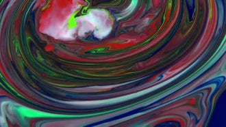 Abstract Colorful Swirl Slow Motion : Stock Video