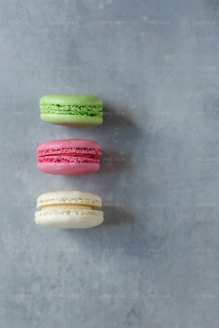 Three Macarons: Stock Photos