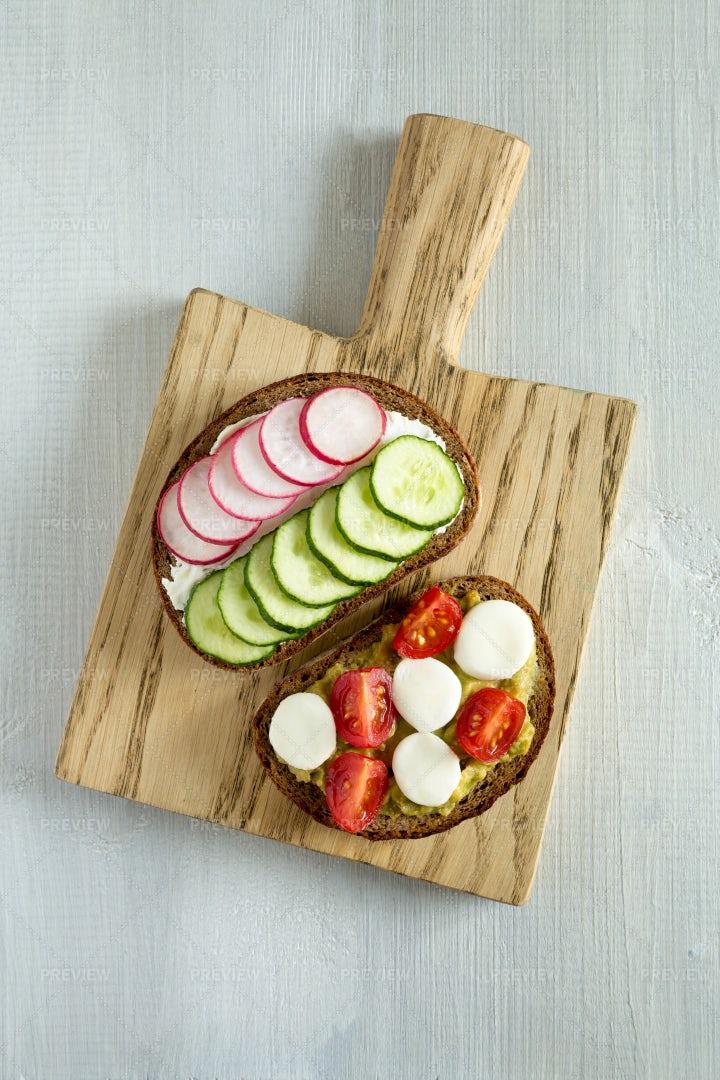 Vegetable Sandwiches: Stock Photos