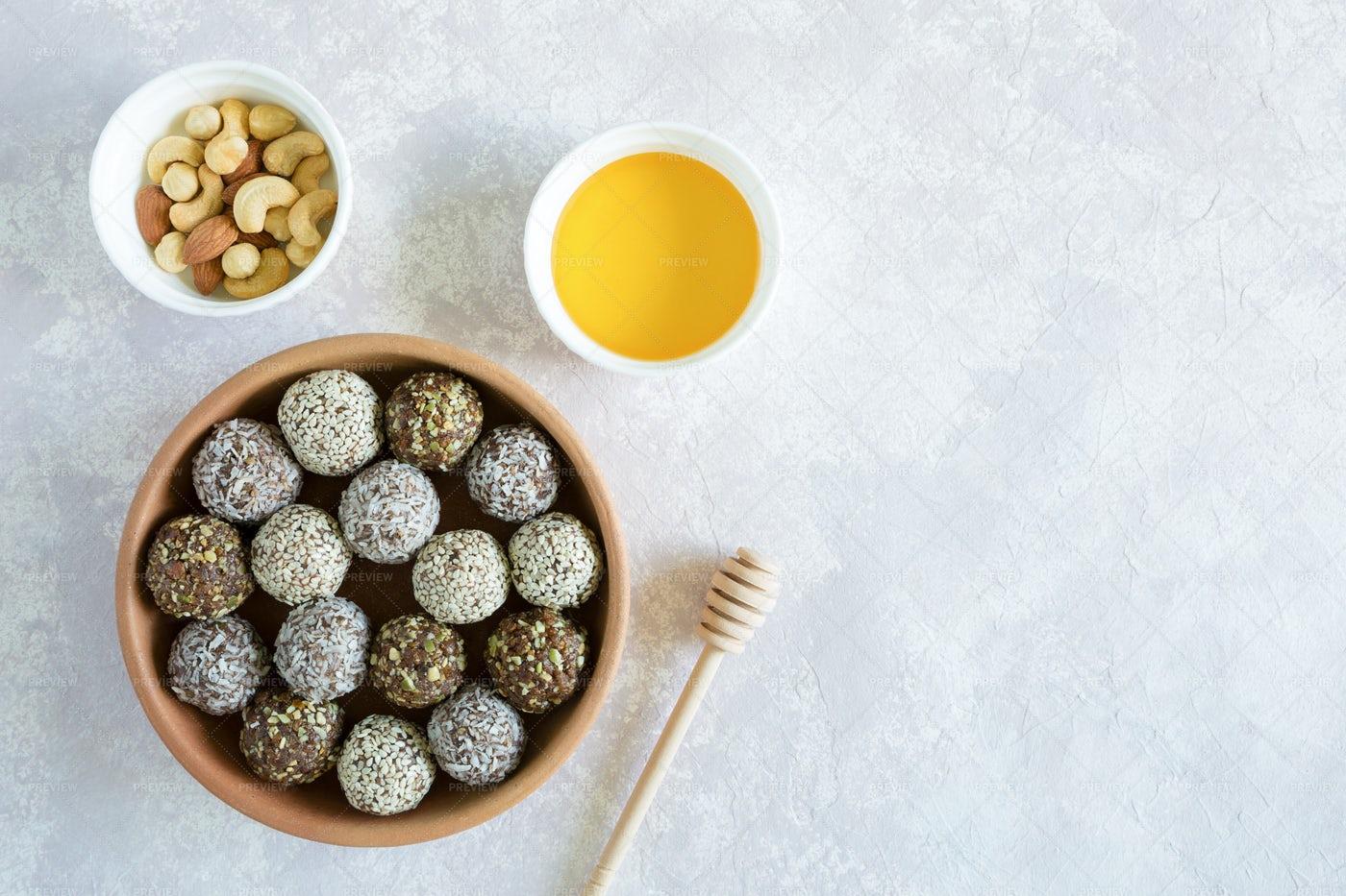Vegetarian Candies Background: Stock Photos
