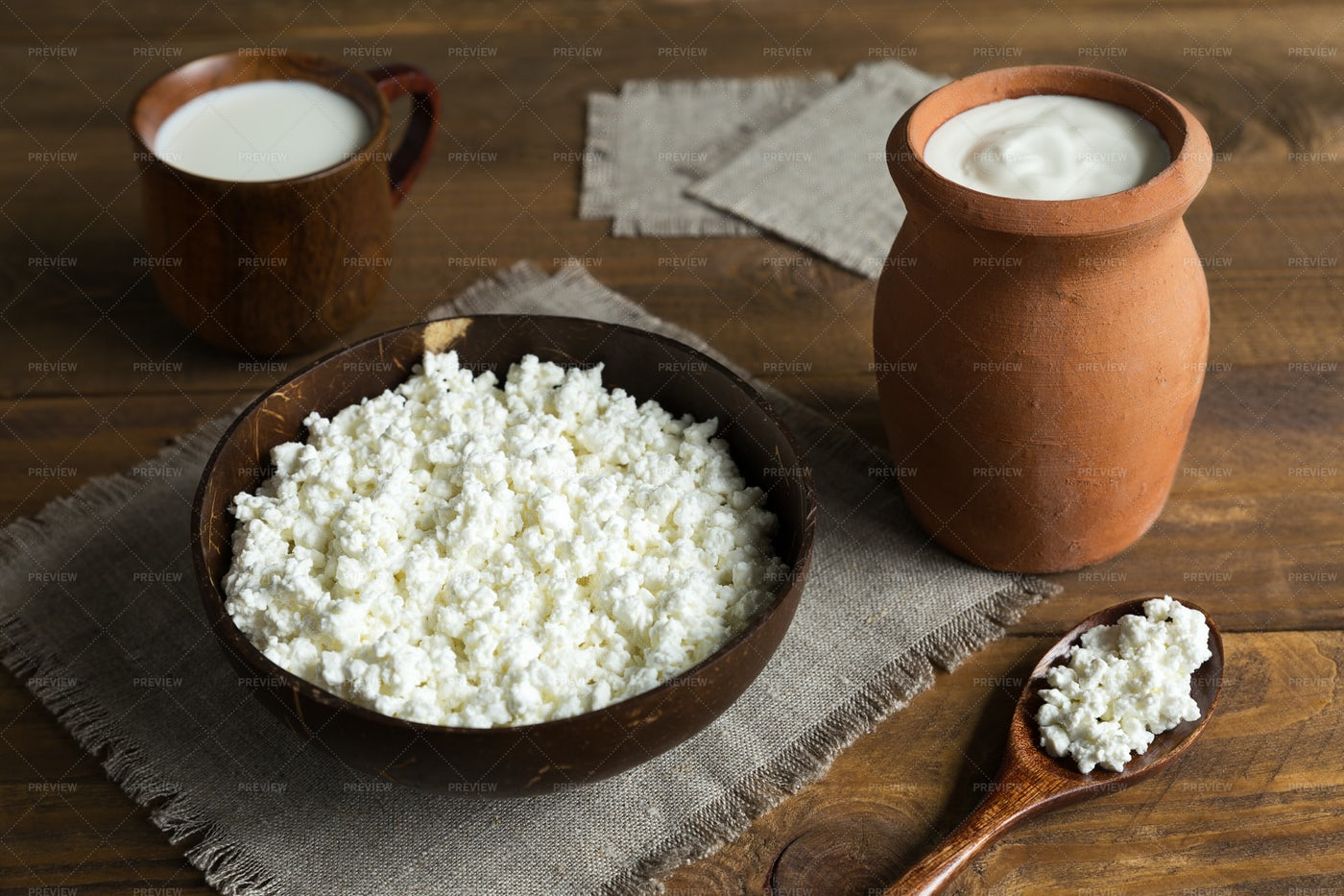 Village Dairy Products: Stock Photos
