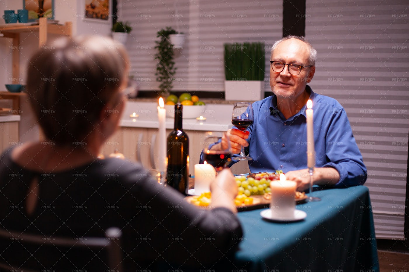Man Telling A Story At Dinner: Stock Photos
