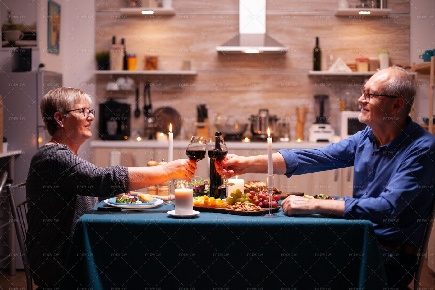 Toasting Glasses With Wine: Stock Photos