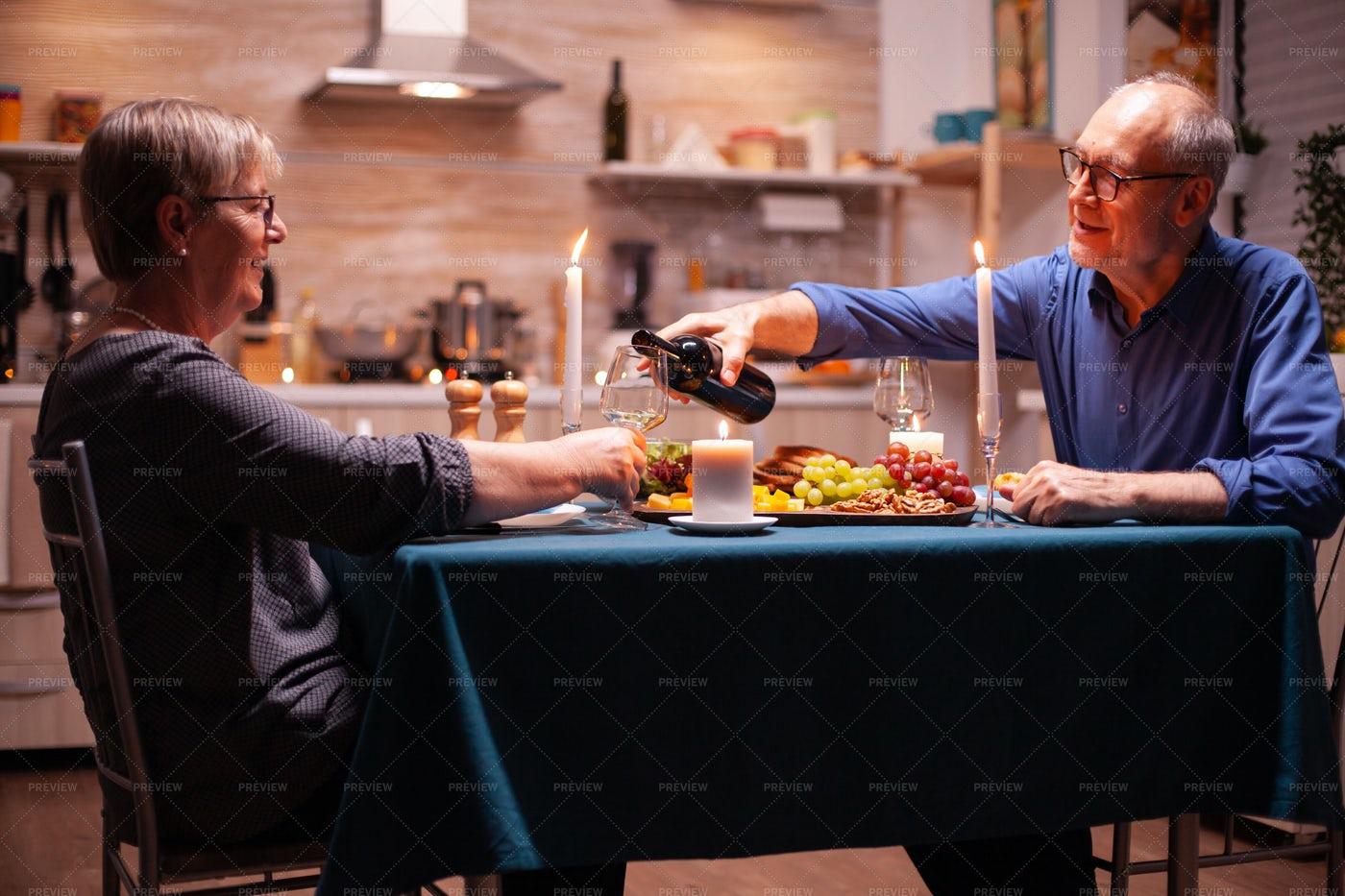 Senior Couple On A Romantic Date: Stock Photos