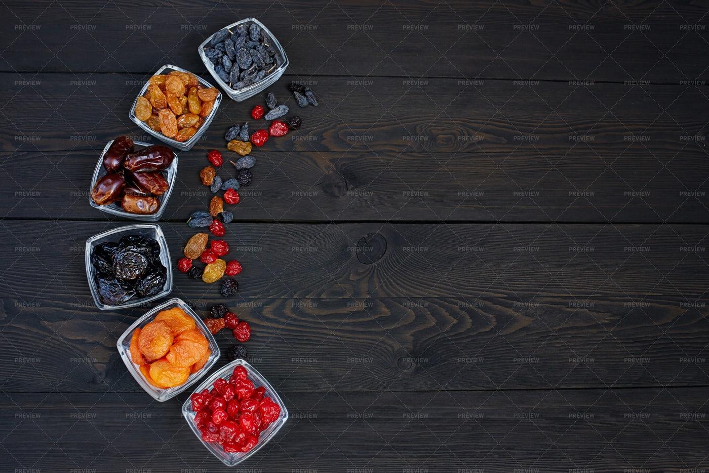 Prunes, Raisins And Dates: Stock Photos