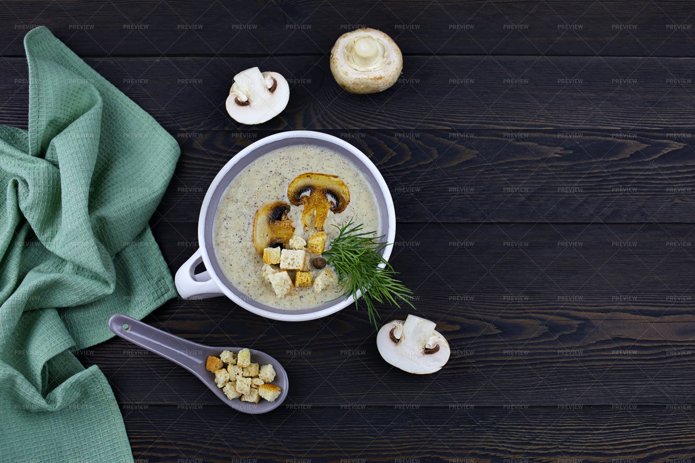 Mushroom Cream Soup: Stock Photos