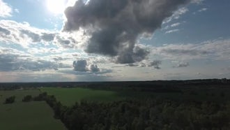 Cinematic View Of Dramatic Clouds : Stock Footage