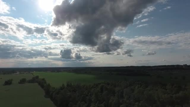 Cinematic View Of Dramatic Clouds : Stock Video