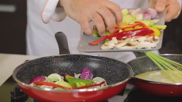 Chef Preparing A Dinner: Stock Video