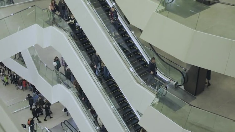 People In A Business Center: Stock Video
