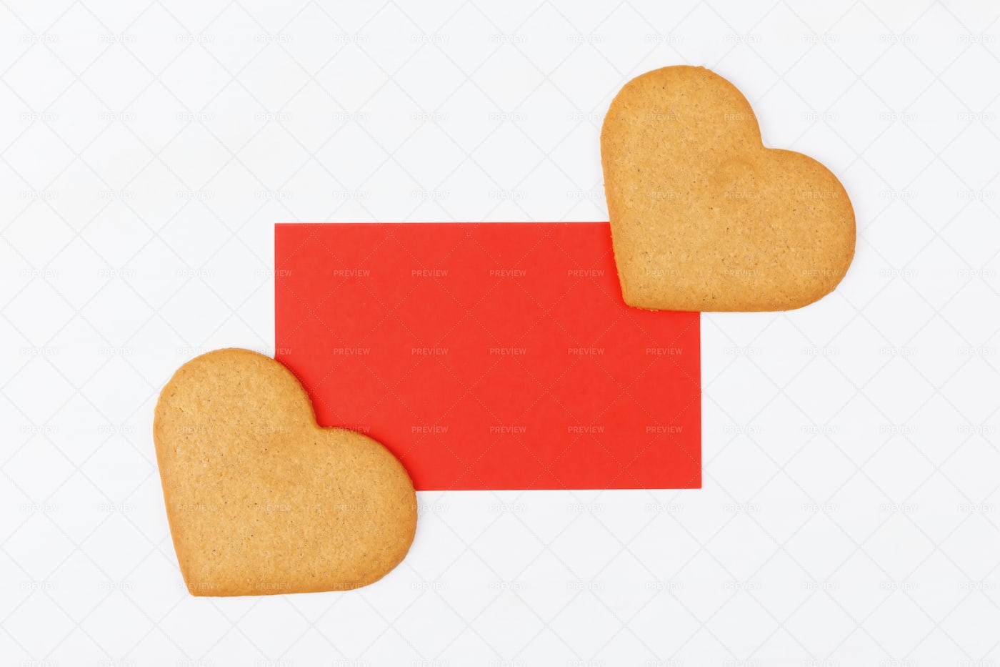 Greeting Card With Two Cookies: Stock Photos