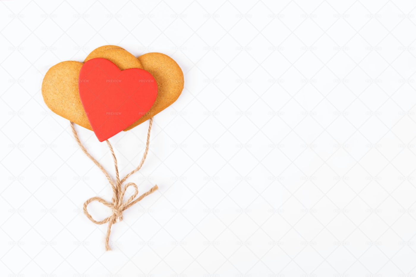 Heart-Shaped Balloon Cookies: Stock Photos