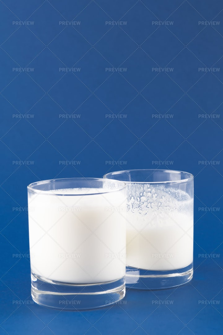Two Glasses Of Kefir: Stock Photos