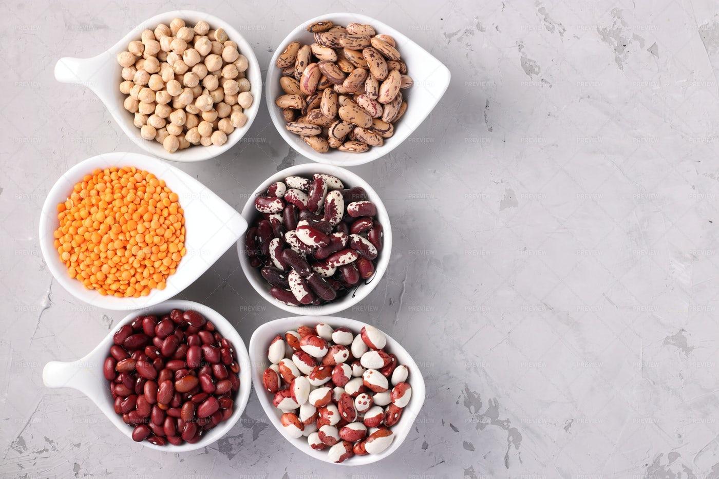 Varieties Of Beans: Stock Photos