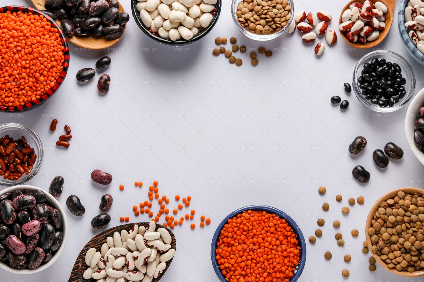 Lentils And Beans: Stock Photos