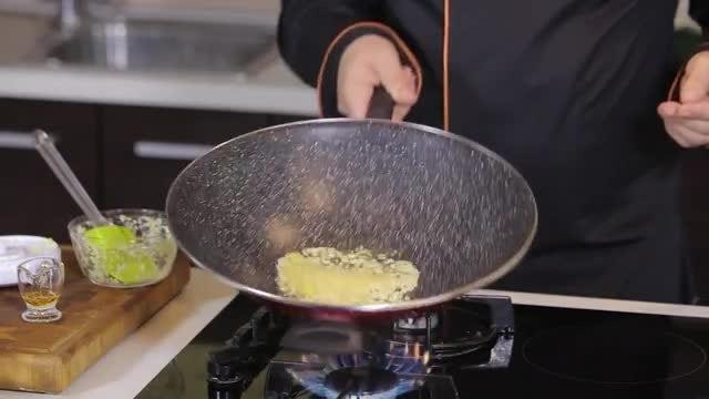 Chef Preparing Hot Pan: Stock Video