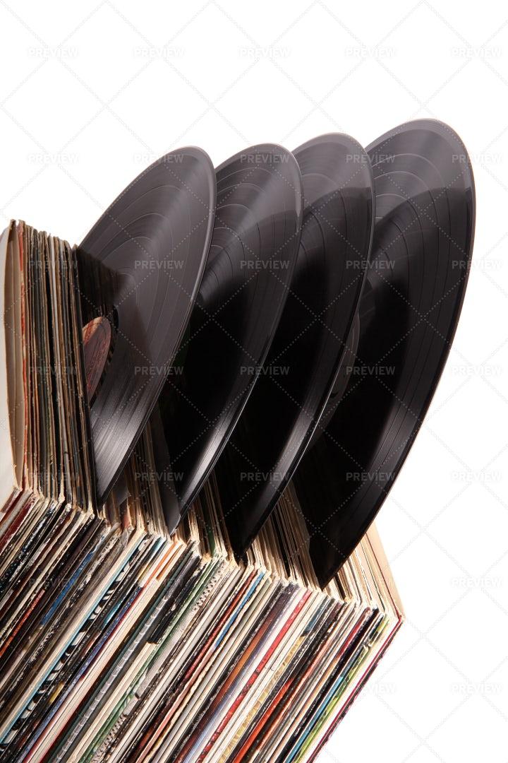 A Vinyl Collection: Stock Photos