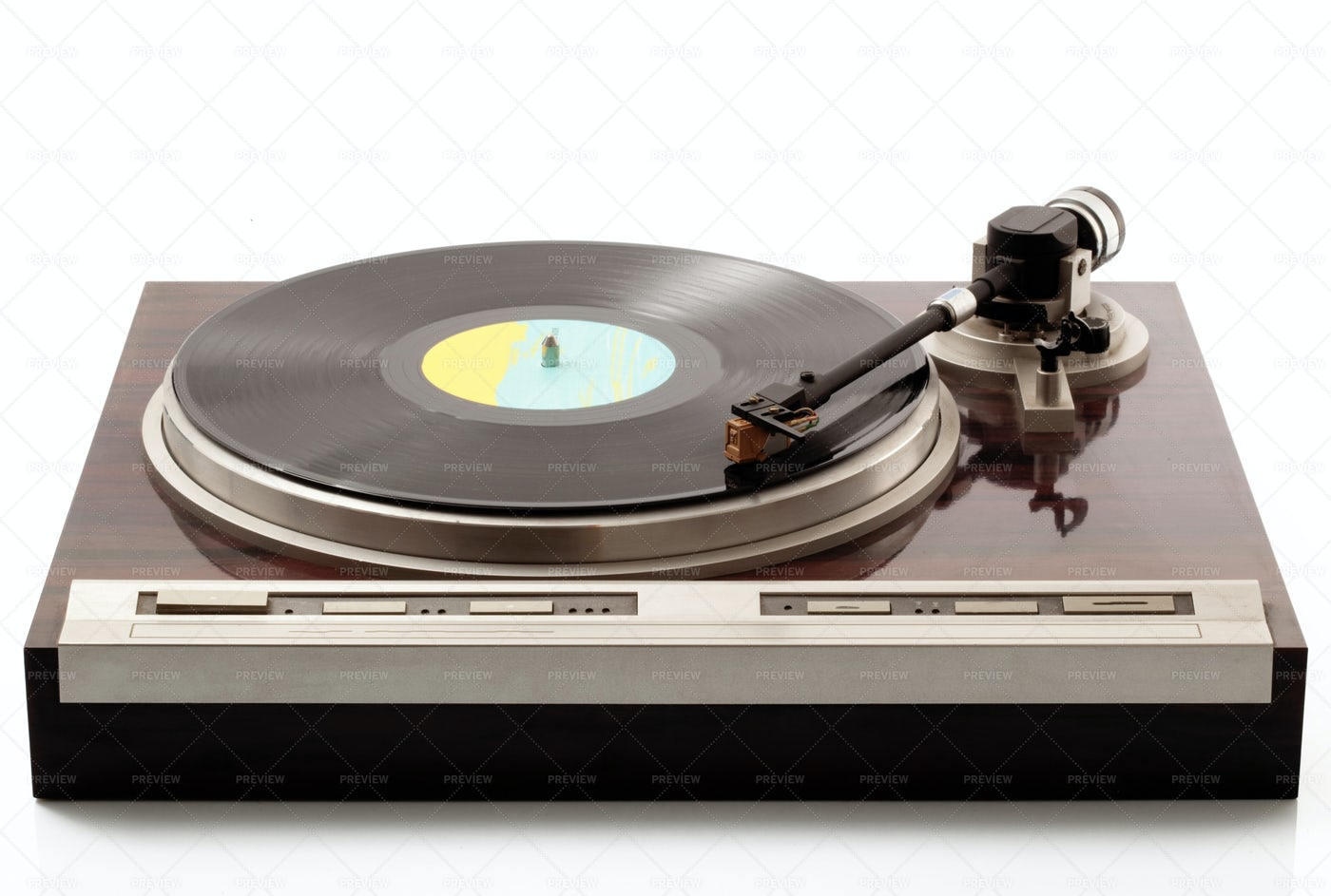 A Vintage Turntable: Stock Photos