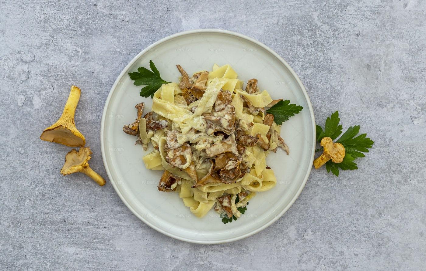 Italian Pasta Tagliatelle: Stock Photos