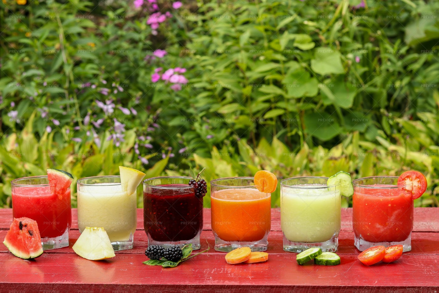 Colorful Smoothies: Stock Photos