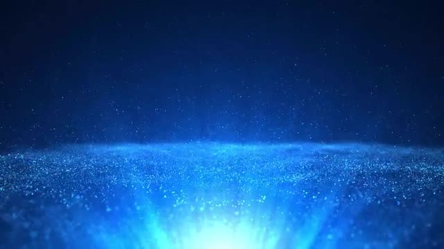 Blue Particles Rays Background: Stock Motion Graphics