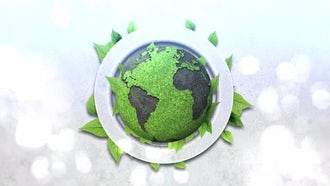 Green Earth Planet Background: Stock Motion Graphics