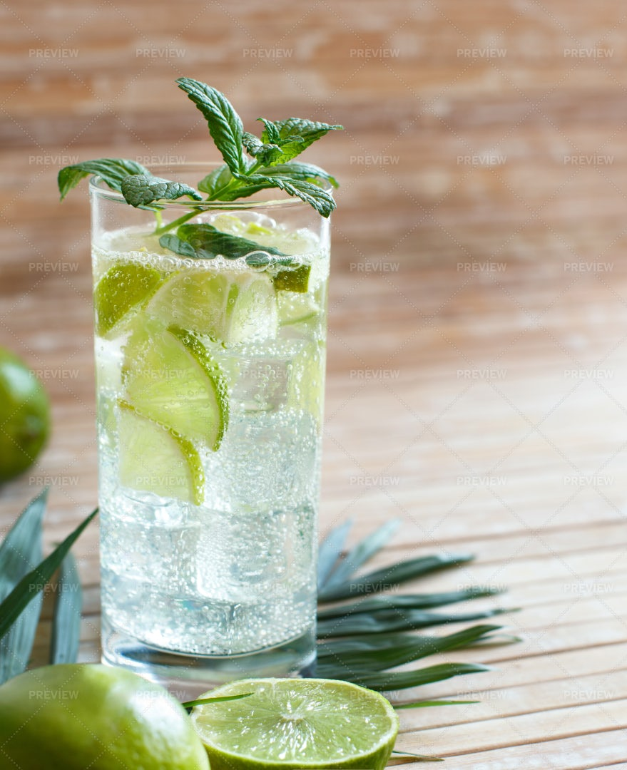 Lime Juice And Mint Drink: Stock Photos