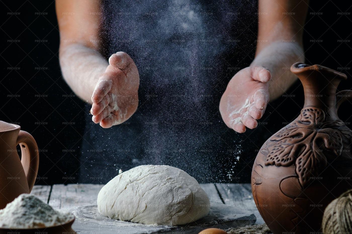 Man Making Bread: Stock Photos