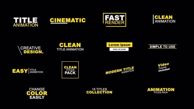 15 Clean Titles Animation: Motion Graphics Templates