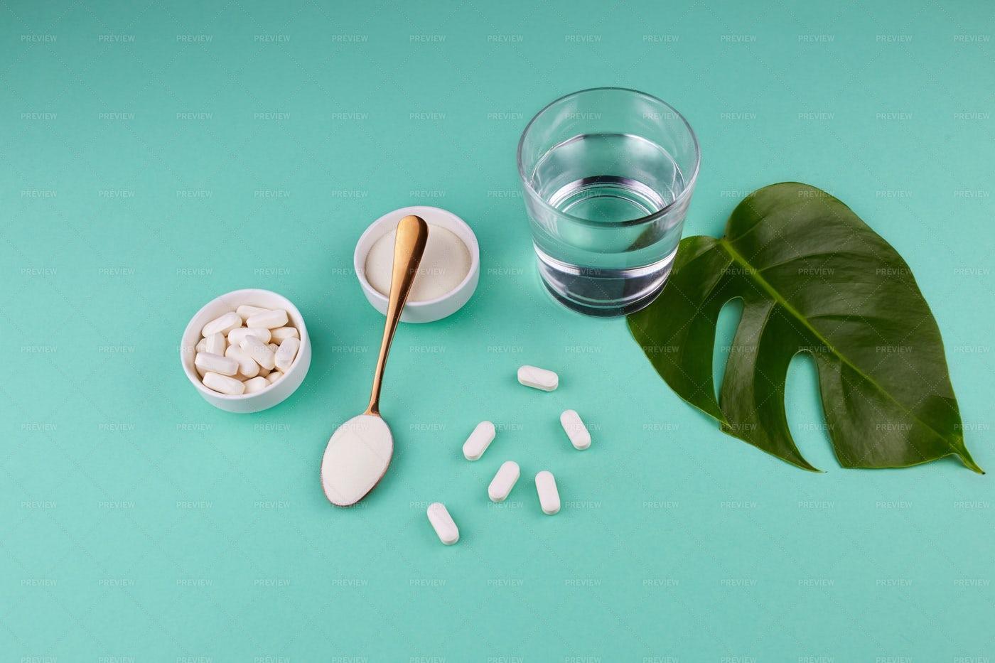 Collagen Items: Stock Photos