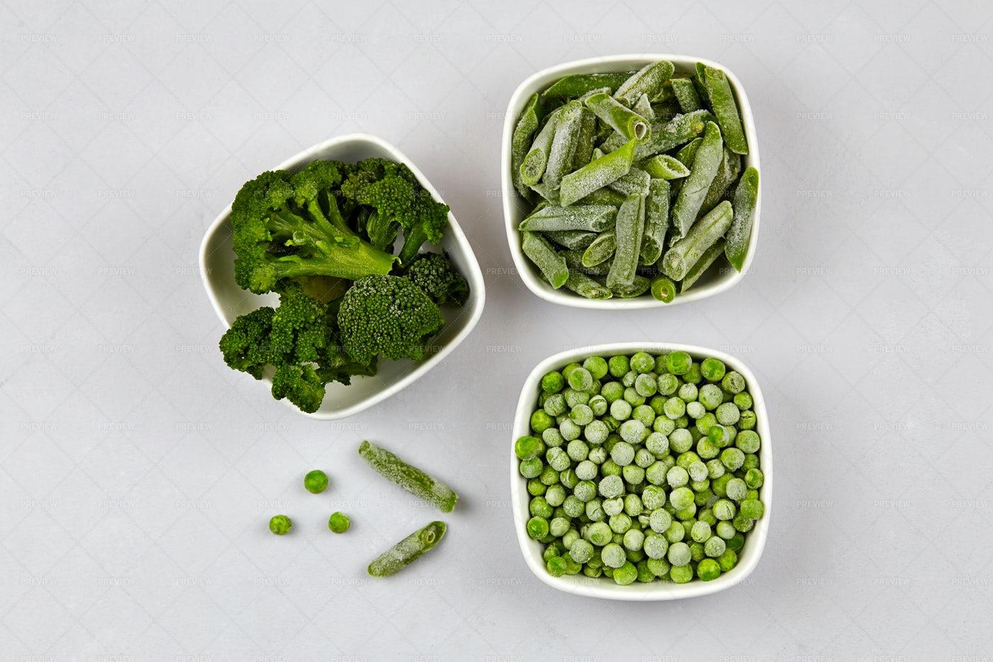 Frozen Green Vegetables: Stock Photos